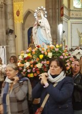 Feast of Our Lady of Lourdes...procession from Sacred Heart Church