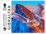 Gibraltar issues a set of WWF Bat stamps