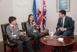 Loreto pupils interview Chief Minister