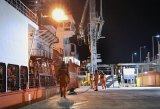 LNG carrier rehearses its berthing procedures
