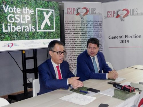GSLP/Libs hold their last election press conference on Brexit topic