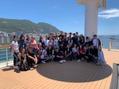 On board the Celebrity Infinity with the Gibraltar College