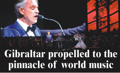 Gibraltar propelled to the pinnacle of world music