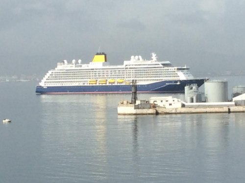 This is the cruiseship that was not allowed to berth at Gibraltar