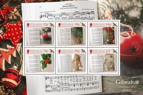 Gibraltar issues a set of Christmas Carols stamps