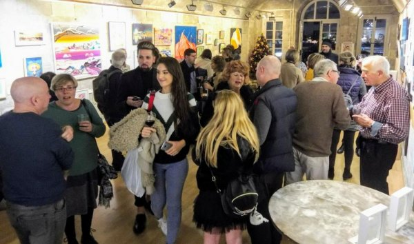 Christmas Art exhibition at Fine Art Gallery